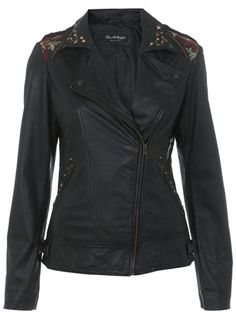 INSPIRED BY Leather Jacket - Miss Selfridge price: £220.00
