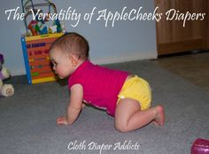 The Versatility of AppleCheeks Diapers - Cloth Diaper Addicts @AppleCheeks Diapers  - Has some GREAT overnight cloth diaper solutions