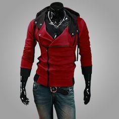 2018 Casual Cardigan Men Hoodie Sweatshirt Long Sleeved Slim Fit Male Zipper  Hoodies Assassins Creed Jacket Plus Size 9641fb49565f