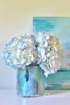 mod podge crafts - watercolor vase