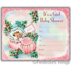 Baby Girl Bootie Shower Invitations