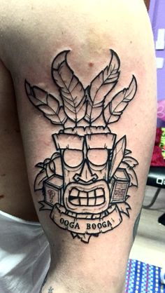 Crash bandicoot tattoo