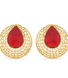 Buy Designer Gold Plated Earrings stud online