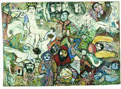 Outsider Art, Rose Wylie, Cobra Art, Art Brut, Visionary Art, Teaching Art, Mixed Media Art, Les Oeuvres, Folk Art