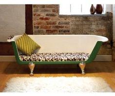 Green max the bath tub sofa ala Breakfast at Tiffany's      materialicious
