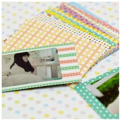 Pastel Instax Mini Film Frame Sticker Set