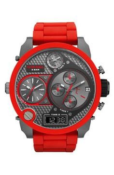 DIESEL 'SBA' Time Zone Watch, 58mm gifters.com deisel watches