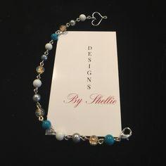 Boho Beaded Metal Bracelet Boho Beaded Metal Bracelet. Heart clasp. 7 1/2 inches Jewelry Bracelets