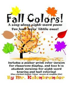 FREE!  Fall Colors sight-word song and poster printable