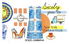 """Sicily goes to New York fashion week"" by fashionconnery ❤ liked on Polyvore featuring Dolce&Gabbana, Annello and NOVICA"