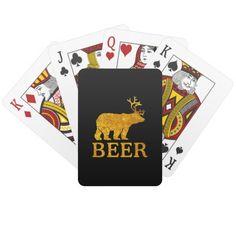 Bear Deer or Beer Poker Deck