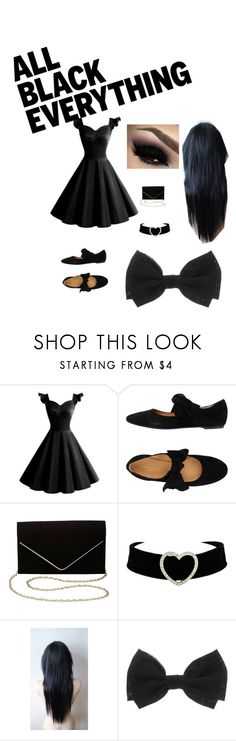 """""""⚫⚫⚫"""" by maryeri-r-alvarez ❤ liked on Polyvore featuring Charlotte Russe and allblackoutfit"""