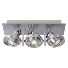 #Lucide #Plafondspot Landa-3 - Dimbare LED - Aluminium