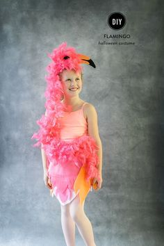 DIY flamingo costume. #halloween #animals #DIY