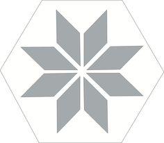 H20M002  format 20cm #Carreauxciment #Hexagones #Grisblanc