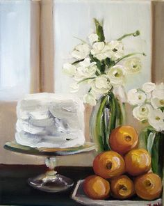 White Cake and Oranges by Janet Hill
