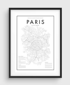 Minimal Paris Map Poster THE QUALITY This is a HIGH QUALITY print as an UltraChrome Epson K3© Ink Technology and the finest Enhanced Matte Photo Paper is used for this poster. It brings live and pure colors covering almost whole PANTONE© Colors Palette - Blacks are deep and vivid - Grays