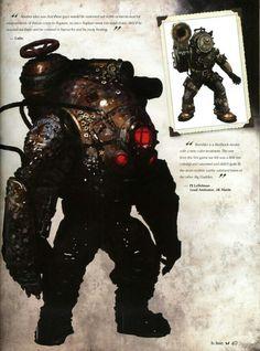 Bioshock Artwork, Bioshock Game, Bioshock Series, Robot Concept Art, Game Concept Art, Bioshock Infinite, Bioshock Rapture, Dead Space, Creature Concept