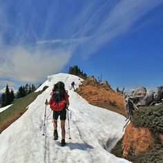 Spring Skills: Tips for #Hiking on Snow.  Make sure you have enough food to refuel after using all that energy! http://foodsupplydepot.com/