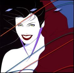 """Patrick Nagel's art was everywhere in the 80's. This painting was for the cover of Duran Duran's hit album """"Rio"""" in 1982 and became one of his best known images."""