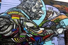 Rimx mural at the Bushwick Collective in NYC