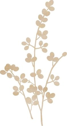 Kaisercraft - Flourishes - Die Cut Wood Pieces - Berry Vine