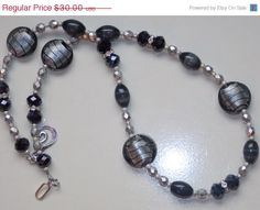 Hey, I found this really awesome Etsy listing at https://www.etsy.com/listing/221198765/25-off-sale-black-and-silver-lampwork
