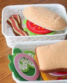 Melissa and Doug felt sandwich set