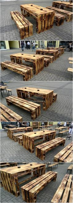 recycled wood pallet furniture idea