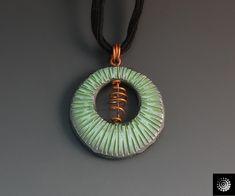 Carved and Textured Beads Pendant | Bettina Welker • Polymer Artist & Teacher | Flickr