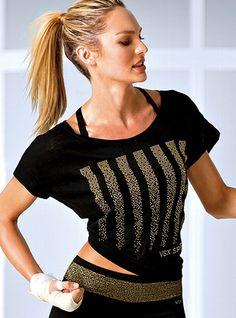 Victoria's Secret Sport NEW! Crop Tee #VictoriasSecret http://www.victoriassecret.com/victorias-secret-sport/black-and-gold/crop-tee-victorias-secret-sport?ProductID=77161=OLS?cm_mmc=pinterest-_-product-_-x-_-x