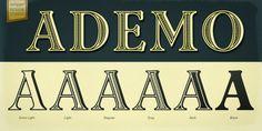 Ademo™ - Desktop font « MyFonts