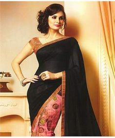 Georgette Saree with Blouse | I found an amazing deal at fashionandyou.com and I bet you'll love it too. Check it out!