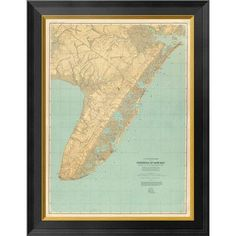 Global Gallery Cape May, New Jersey, 1888 Framed Graphic Art on Canvas Size: