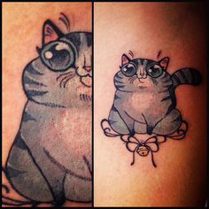 1000 images about body art for Fat cats tattoos