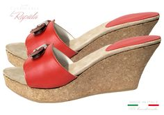 Zeppe Donna in Sughero Alte In Pelle Natura Estate Cork Wedges, Ciabatta, Estate, Ipod Touch, Shoes, Fashion, Moda, Zapatos, Shoes Outlet