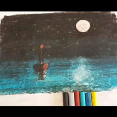 Oil pastels... like a ship lost at sea #art #oilpastel #sketch #illustration #draw #pencil #오일파스텔 #그림 #artist #artwork #pastel #drawing #portrait #블랙보드 #color #sketchbook #crosshatch #charcoal #artistic #sketch_daily #pastels #doodle #loveart #painting