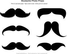 Mustache Photo Props
