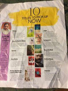 10 titles to pick up now/Oprah Mag Nov 2016