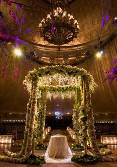 grand floral Mandap. OTT wedding decor