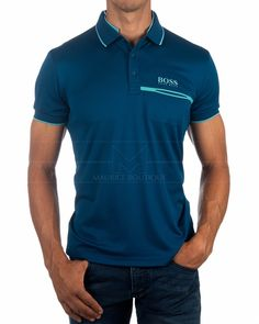 HUGO BOSS Paddy Pro 2 Polo Shirts ✶ Open Blue | BEST PRICE Hugo Boss, Tee Shirts, Tees, S Man, Sport T Shirt, Boutique, Online Shopping Clothes, Athleisure, Mens Suits