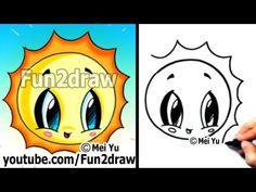 Kawaii Tutorial - How to Draw Cute Easy Cartoons - Sun