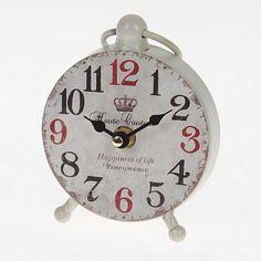 Beautiful metal table clock in beige color www.inart.com