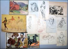 COLLECTION OF HAND DRAWINGS. Lot 150-6029