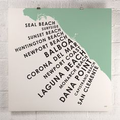 ORANGE & PARK - Orange County Beach Towns print finally someone recognizes Balboa Beach