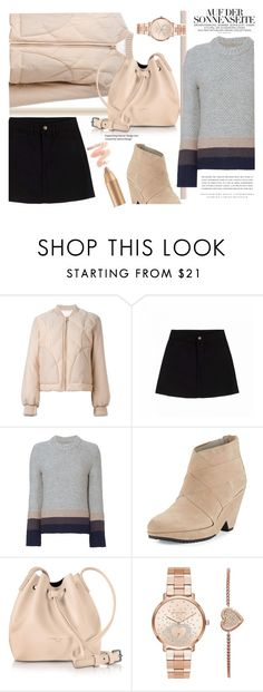 """""""puffer blush"""" by paperdollsq ❤ liked on Polyvore featuring Kerr®, See by Chloé, Brochu Walker, Eileen Fisher, Lancaster, Michael Kors and puffers"""