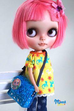 Bag for Blythe by Miema Dollhouse by miema4dolls on Etsy