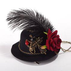 GRACEART Steampunk Mini Parte Superior Sombrero Disfraz Accesorio 8628dcfb6b8