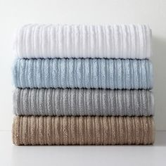 Hudson Park Ribbed Bath Towel White Hudsonpark Blue Mosaic Tile Towels