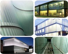 Do you know what kind of glass it is on the buildings in the photos?  Yes, it's architectural U-Shaped Glass / U Channel Glass / U Profiled Glass, a kind of new and easy installed material for interior partition wall and exterior facade wall, which is highly durable, allows light to enter buildings whilst presenting a translucent external appearance. U Glass, Channel Glass, Glass Suppliers, Laminated Glass, Glass Facades, Building Materials, Buildings, Exterior, Shape